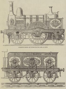 Locomotive Engine and Tender for the Pacha of Egypt