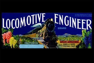 Locomotive Engineer Brand California Grapes
