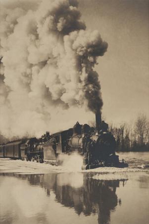 Locomotive in High Water