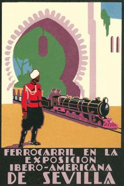 Locomotive in the Seville Exposition