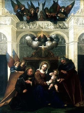 Holy Family with Saint Nicholas of Tolentino, 1515-1530