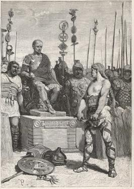 The Leader of the Gauls Vercingetorix Lays His Arms Before Caesar by Lodovico Pogliaghi