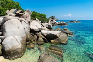 A bungalow has the perfect view on the shore in Koh Tao, Thailand, Southeast Asia, Asia by Logan Brown