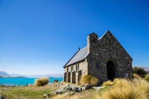 Church of the Good Shepherd, an old church overlooking Lake Tekapo, Tekapo, New Zealand by Logan Brown