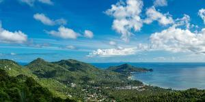 Panoramic view from the highest peak on the island of Koh Tao, Thailand, Southeast Asia, Asia by Logan Brown