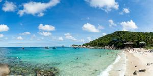 Tourists enjoy the clear waters of Koh Tao, Thailand, Southeast Asia, Asia by Logan Brown
