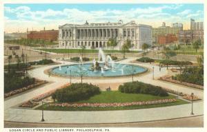 Logan Circle, Public Library, Philadelphia, Pennsylvania