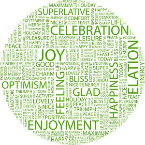 Joy. Word Collage On White Background. Illustration With Different Association Terms by Login