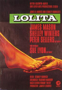 Lolita, German Movie Poster, 1962