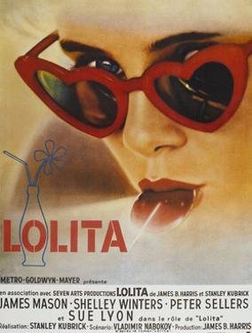 Lolita, Sue Lyon, French Poster Art, 1962
