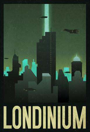 Londinium Retro Travel Poster