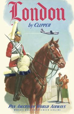 London by Clipper - Queen's Royal Household Cavalry - Pan American World Airways