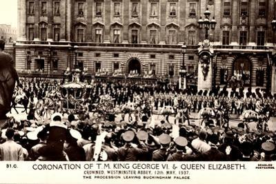 London, Coronation, King George VI, Queen Elizabeth