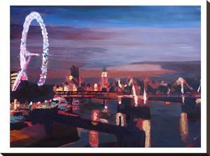 London Eye Night by M Bleichner