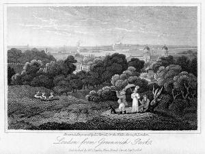London from Greenwich Park, 1816 by I Varrall