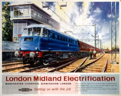 London Midland Electrification, Getting on with the Job, Wilmslow Cheshire