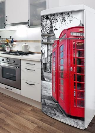 London Phone Box Refrigerator Decal
