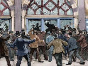 London. Picadilly. Socialist Agitation. February 8, 1886