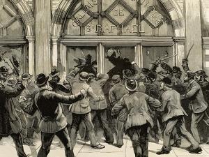 London, Picadilly, Socialist Agitation, February 8, 1886