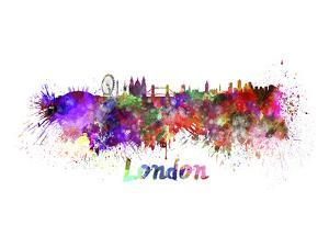 London Splatter Skyline