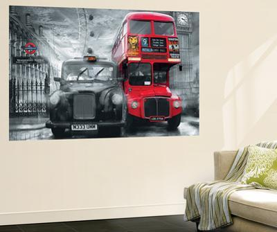 London Taxi and Bus Mural