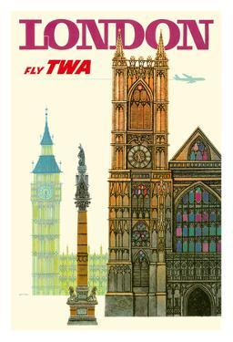 London UK - Trans World Airlines Fly TWA - Westminster Abbey Church
