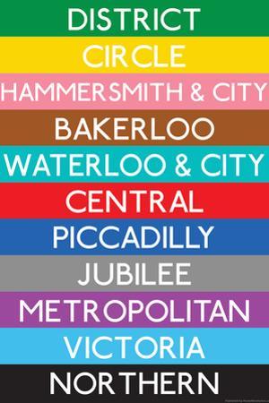 London Underground Tube Lines Travel Plastic Sign