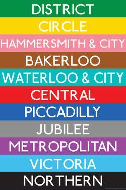 London Underground Tube Lines Travel Plastic Sign
