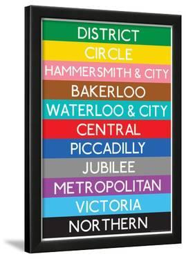 London Underground Tube Lines Travel Poster