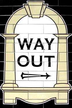 London Underground Way Out Sign RetroMetro Plastic Sign