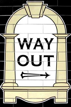 London Underground Way Out Sign RetroMetro