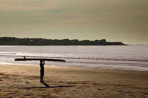 Lone Surfer Newport Rhode Island Poster