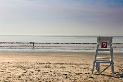 Lone Surfer on Newport Beach Rhode Island