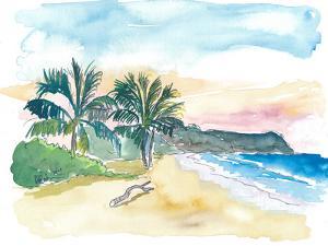 Lonely Caribbean Beach Bay Dream by M Bleichner