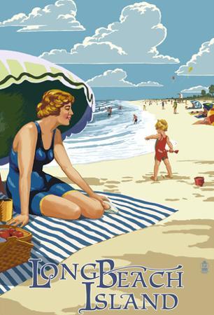 Long Beach Island, New Jersey Beach Scene
