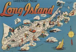 Long Island, New York - Greetings From