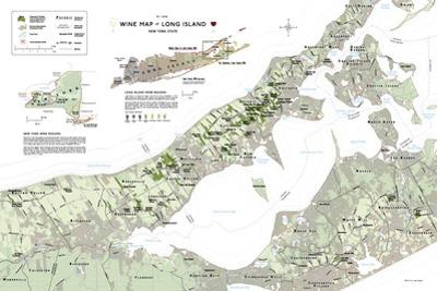 Long Island Wine Map Poster
