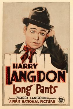 LONG PANTS, Harry Langdon on window card, 1927.