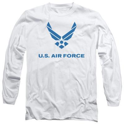 Long Sleeve: Air Force - Distressed Logo