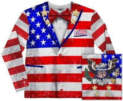 Long Sleeve: American Tuxedo Costume Tee