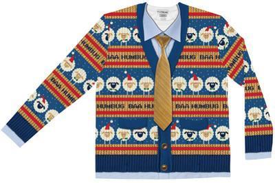 Long Sleeve: Baa Humbug Ugly Xmas Sweater Tee