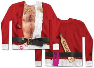 Long Sleeve: Bad Santa Costume Tee