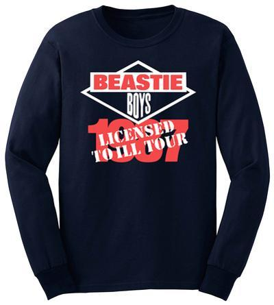 Long Sleeve: Beastie Boys - Licensed To Ill 1987 Tour