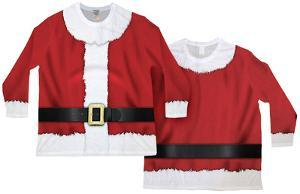 Long Sleeve: Big Sized Santa Ugly Sweater (Front/Back)