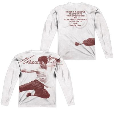 Long Sleeve: Bruce Lee- Expectations (Front/Back)