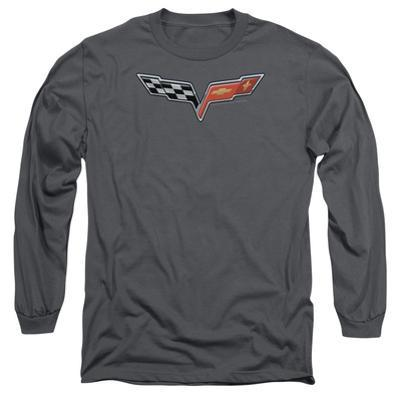 Long Sleeve: Chevy- Modern Corvette Emblem