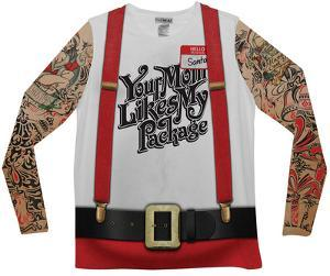 Long Sleeve: Christmas Tattoos & Suspenders Tee