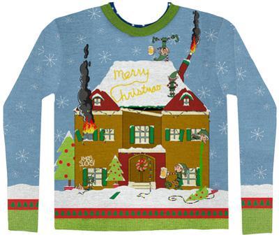 Long Sleeve: Elves Gone Wild Ugly Xmas Sweater Costume Tee