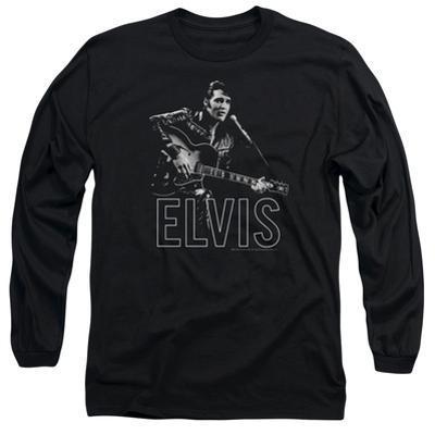Long Sleeve: Elvis Presley - Guitar In Hand