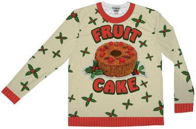 Long Sleeve: Fruit Cake Xmas Sweater Tee